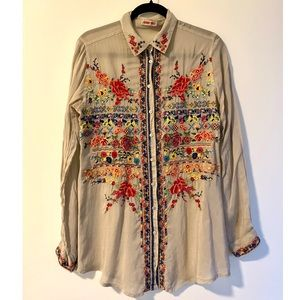 Johnny Was Embroidery Blouse